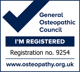 General Osteopathic Council - Registration no. 9254