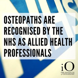 Osteopathy is an NHS allied health profession.